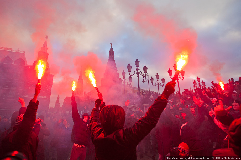 Right-wing hooligans terrorize Russia