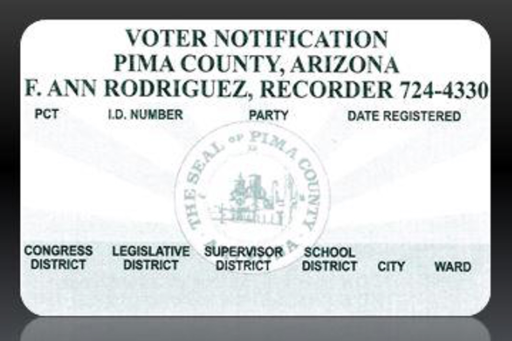 Pima Cards New Mailing County Voter