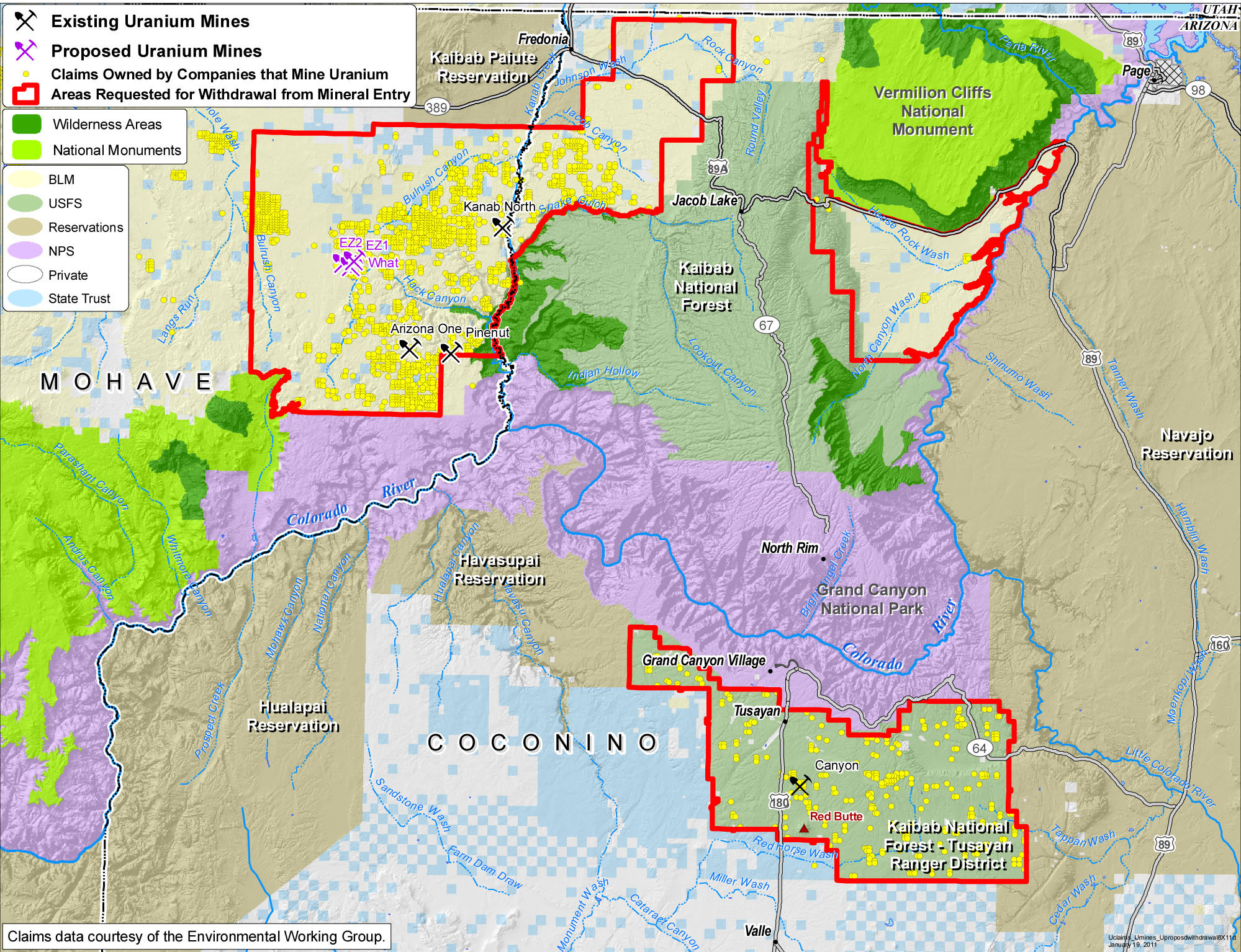 Map Of Arizona Mines.Appeals Court Upholds Reopening Of Uranium Mine Near Grand Canyon
