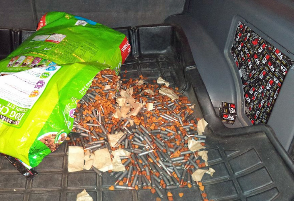 7,800 assault rifle rounds found in dog food at Douglas