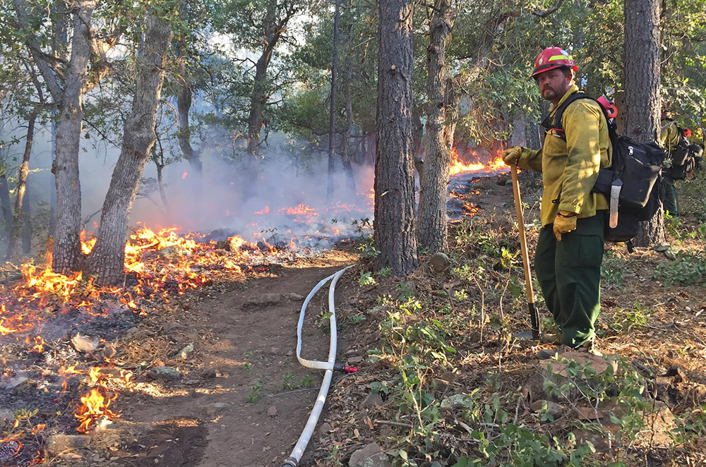 Firefighters add drone incursions to threats faced in a wildfire