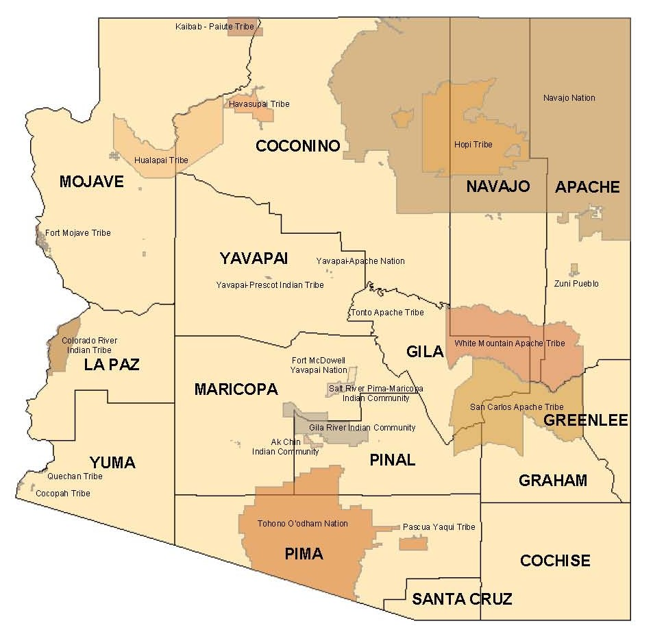 Tribal Efforts To Boost Census Participation Add Up - Map of native american tribes in arizona