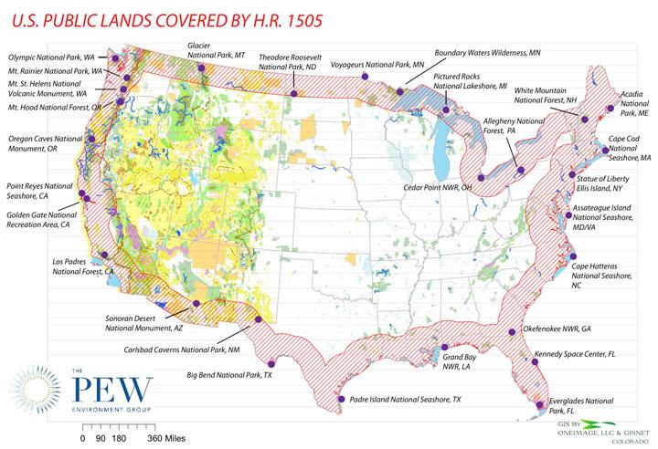 Critics Border Patrol Bill Would Hurt Environment - Us border zone map