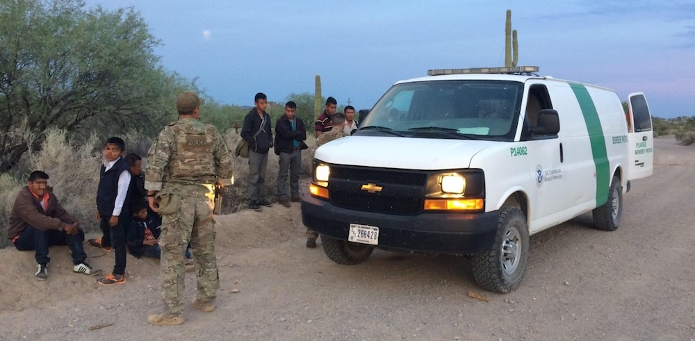 Group of 128 suspected border-crossers detained near Ajo