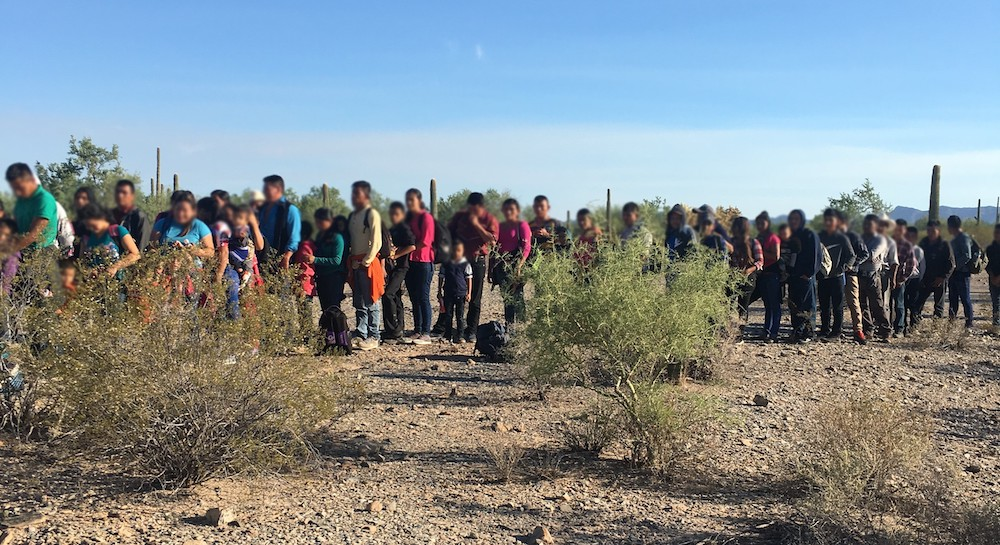 163 border-crossers detained by Border Patrol in often deadly Az desert
