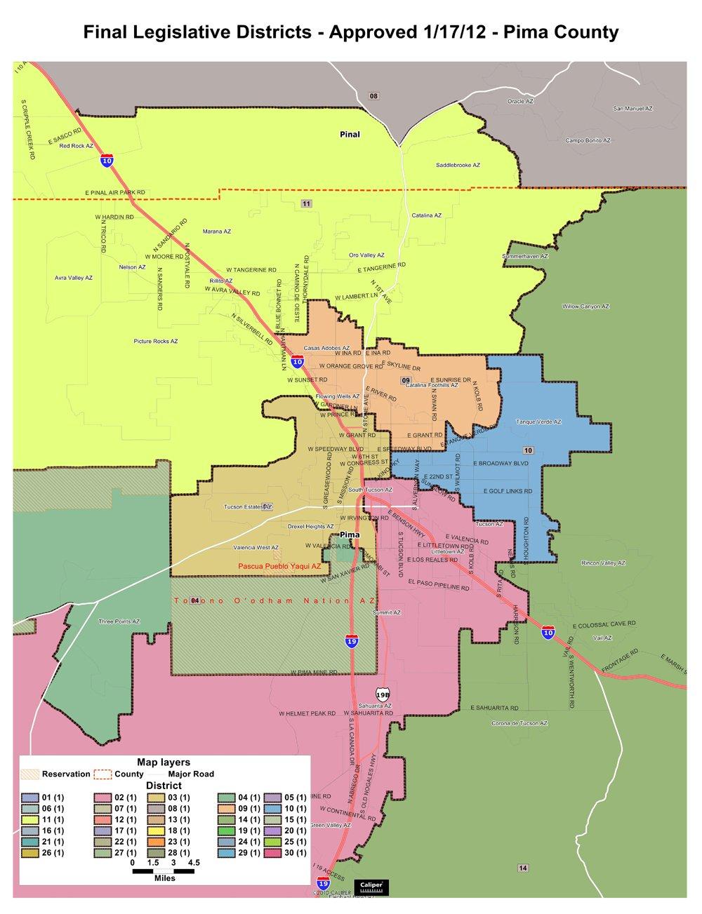Map Of Arizona Voting Districts.Ld2 Legislative Debate Thursday Night
