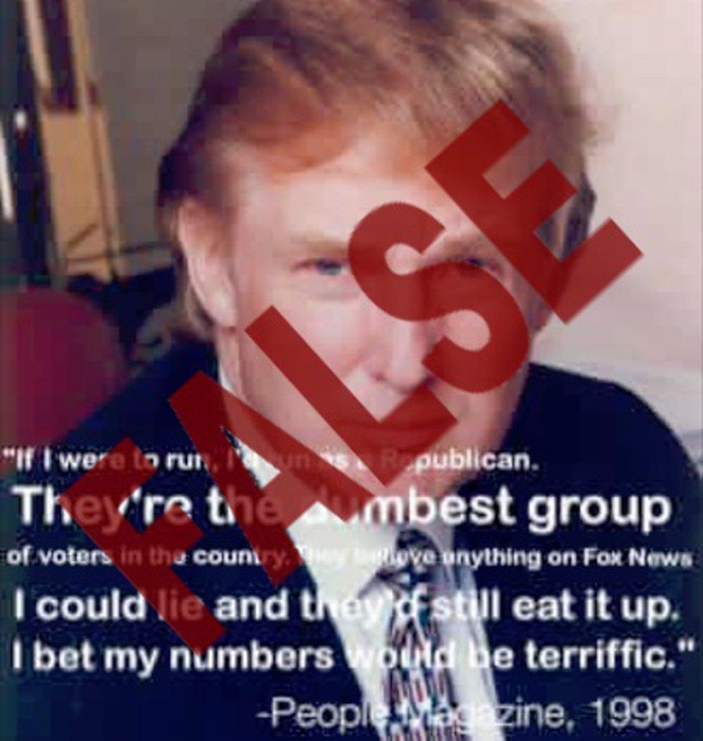 People Magazine Trump Quote 1998: FactCheck: Trump Meme About 'dumb Republicans