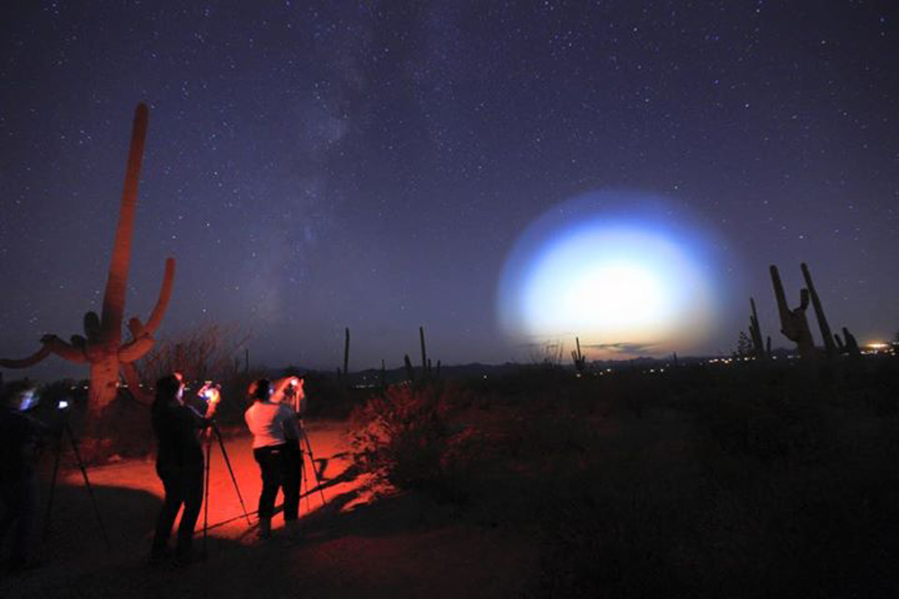lights in sky were navy missile test