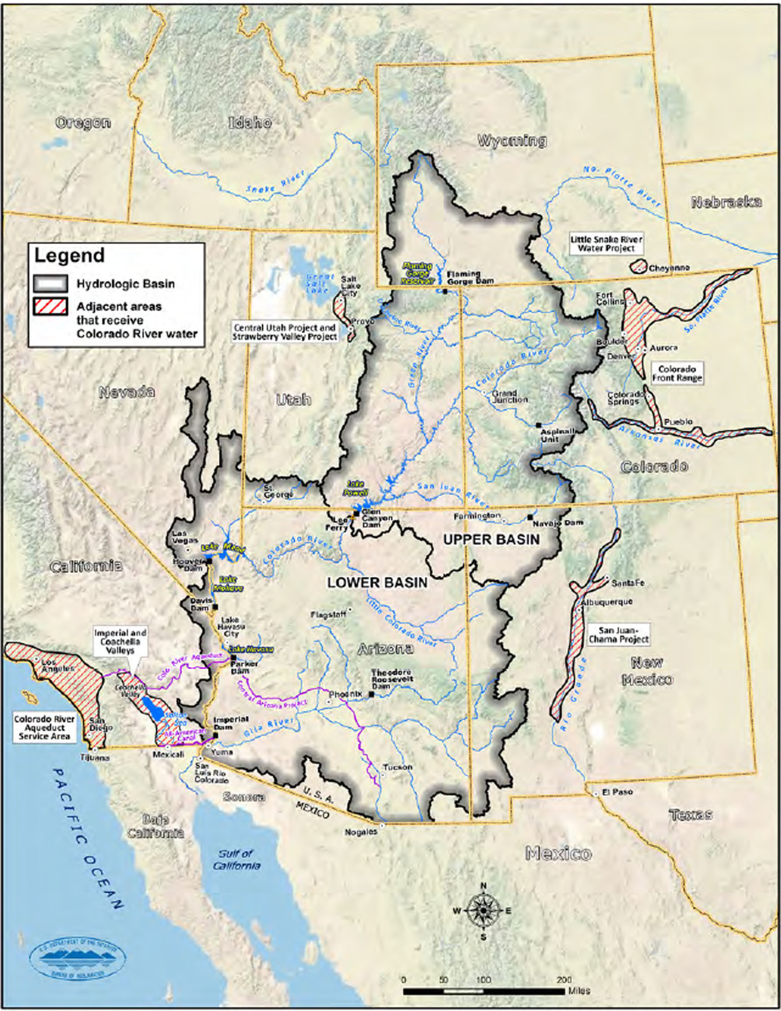 Demands On Colorado Again Make It Nations Mostendangered River - Map of colorado river in texas
