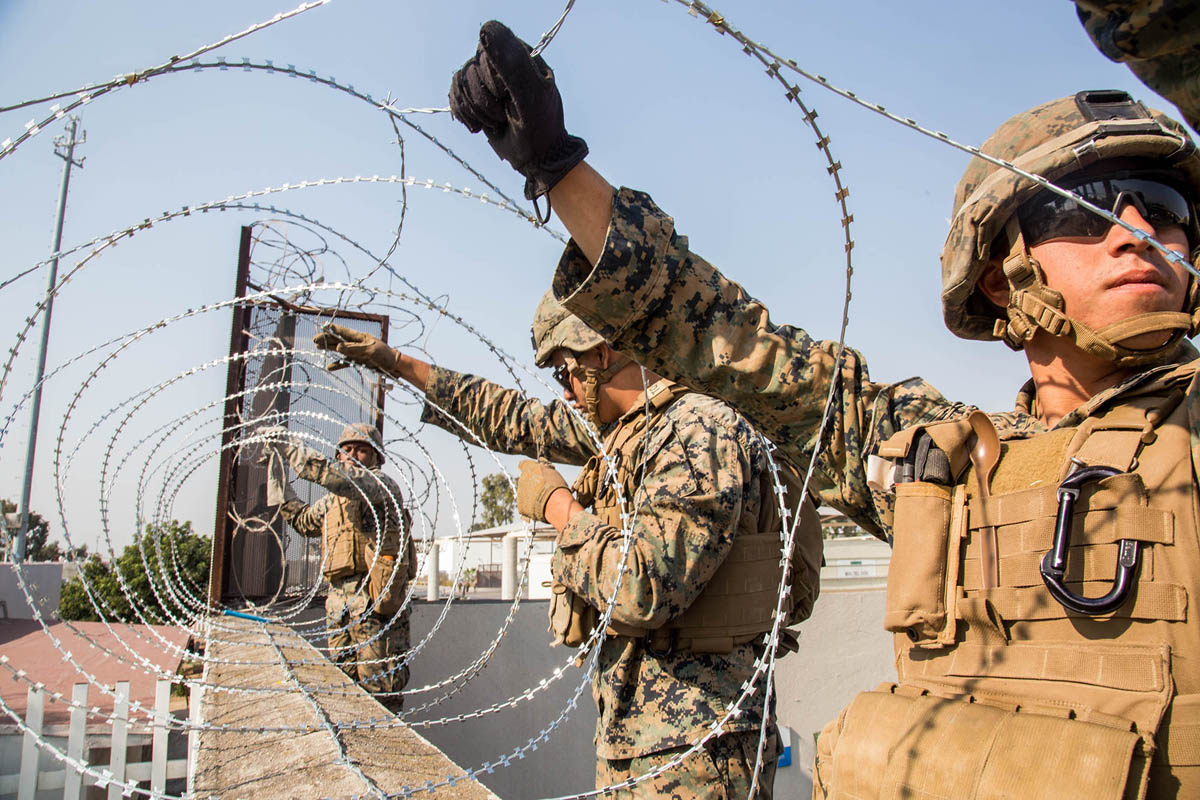 Stringing Concertina wire