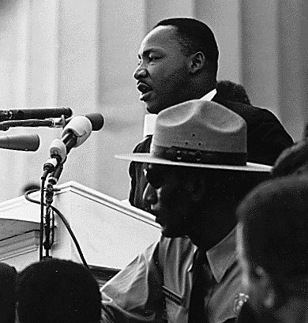 """martin luther king speech Midway through zora neale hurston's novel of 1939, """"moses, man of the  mountain"""", moses tells the israelites that god has finally forced."""