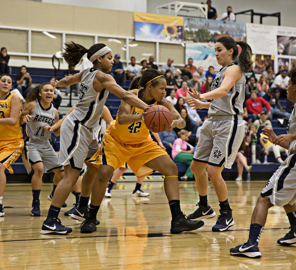Aztecs women's basketball earn win in second half   Pima ...