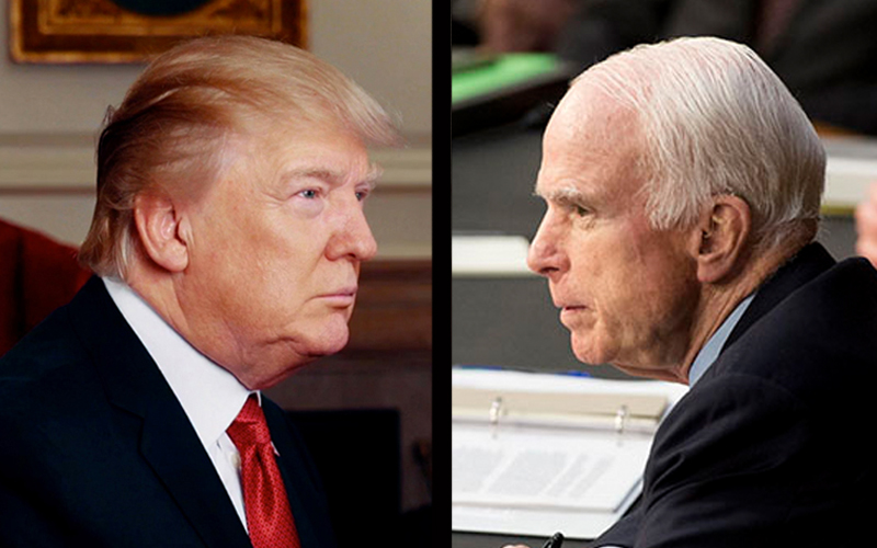 Image result for trump warns mccain